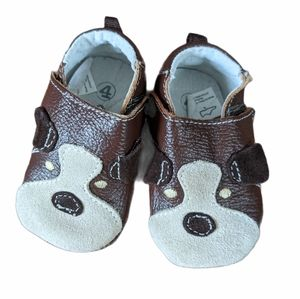 Puppy leather Outbak's baby shoes
